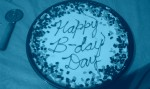 Blue Birthday Cookie