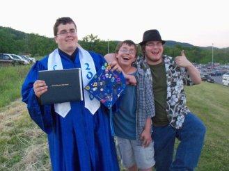 My three sons, Josiah's graduation