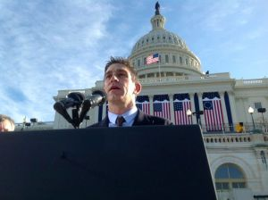 Sound check for inaugural poem