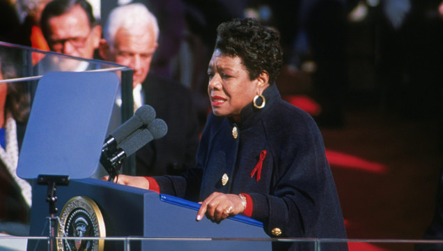 Angelou At Inauguration