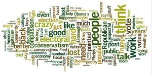 President Obama's Word Cloud