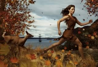 Jessica Beil as Pocahontas, as depicted by Annie Leibovitz