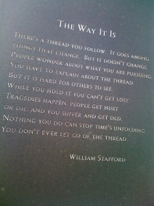"""The Way It Is,"" by William Stafford"