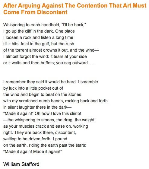 William Stafford Poem