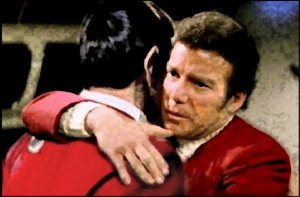 Kirk and Spock Embrace
