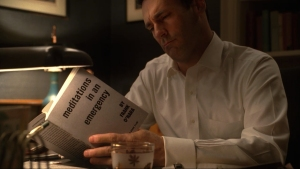 Mad Men's Don Draper reading Frank O'Hara