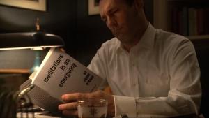 Mad Men's Don Draper reading Frank O'Hara