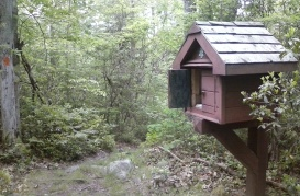 Trail box on Pinchot Trail
