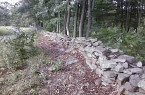 Old wall at Moon Lake
