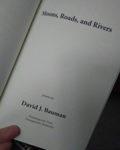 Title page of Moons, Roads,, and Rivers by David J. Bauman