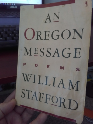 Cover image of William Stafford's book, An Oregon Message
